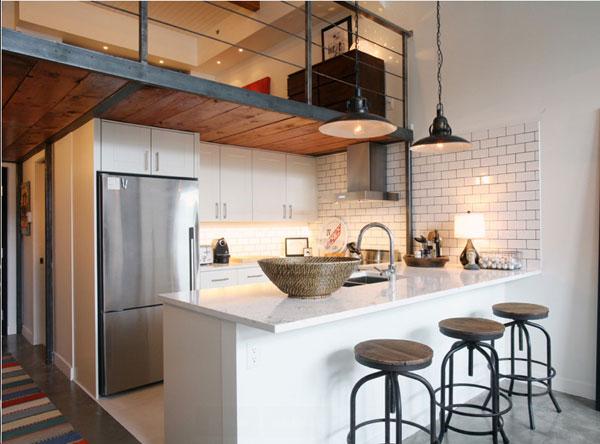 Il ruolo dell 39 architetto nella definizione degli ambienti - Cucina con soppalco ...