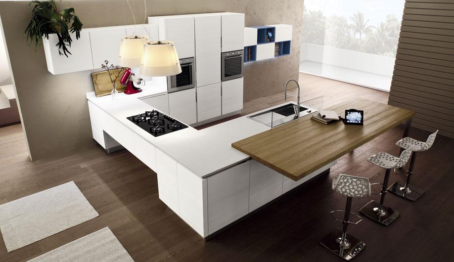 Arrex anice una cucina moderna con bancone penisola - Cucine moderne con isola centrale ...